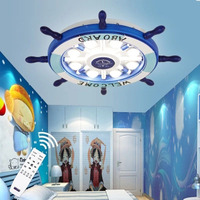 Suction Dome Light LED Children S Room Boy Room Cartoon Girl Bedroom Bedroom Mediterranean Style