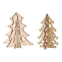 b580cf7c8bf Decoración de Navidad Mini árbol de Navidad de madera adornos para el hogar  mesa de Navidad