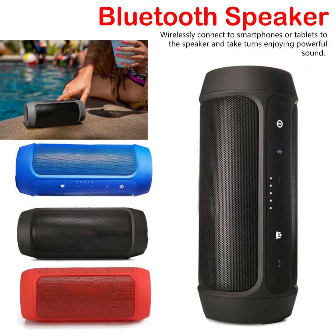 Wireless Mini Charge 2 Plus Bluetooth Speakers Music Surround Bluetooth Speaker Portable Outdoor Loudspeaker(China)