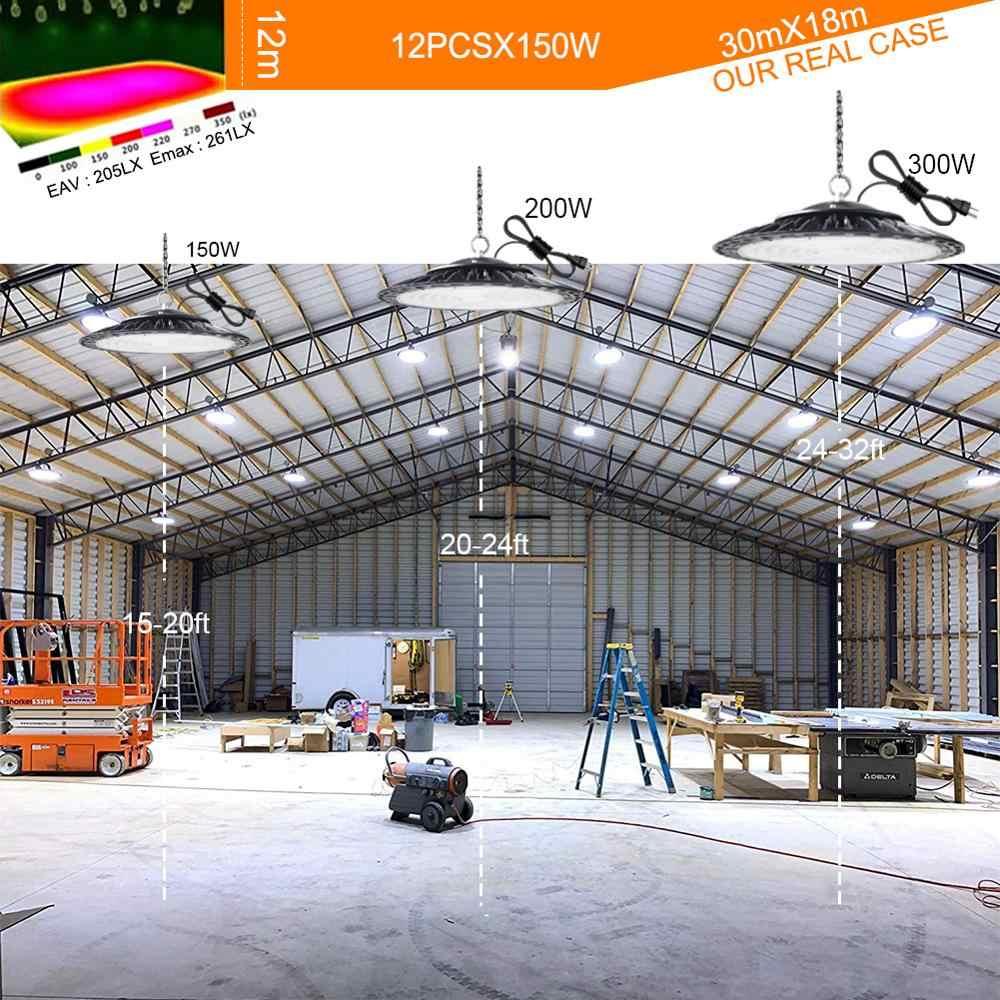 Заглушка гарантия 5 лет Led High Bay светильник водонепроницаемый IP65 НЛО склад мастерской гараж промышленный светильник стадион рынок аэропорта