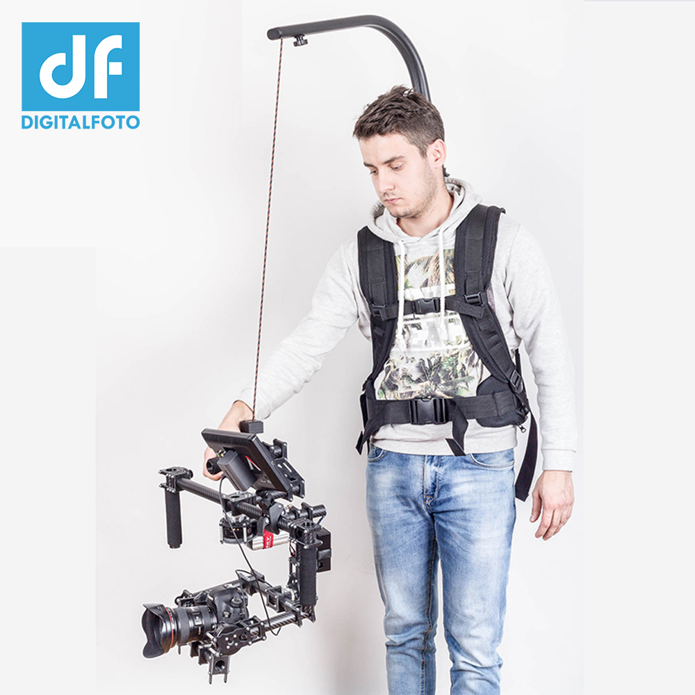 цена на Like EASYRIG 1-18kg video and film Serene camera for dslr DJI Ronin M 3 AXIS gimbal stabilizer Gyroscope Gyro steadicam vest