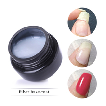 LILYCUTE 5ml Fiber Base Coat Nail Gel Strengthening Repairing Broken Nails Glossy Soak Off UV Varnish