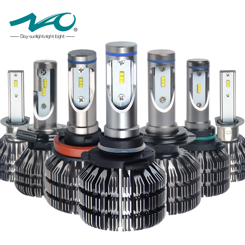 NAO H4 LED Headlights H7 led Bulb H11 Auto Lamp H8 H9 H1 HB3 9005 HB4 9006 9003 HB2 Hi Lo 25W 3000LM 12V 24V 6000K White V5 new arrival 20w 2500lm epistar cob chip h1 led head lights bulb 12v 24v auto car daytime running light headlights 6000k white