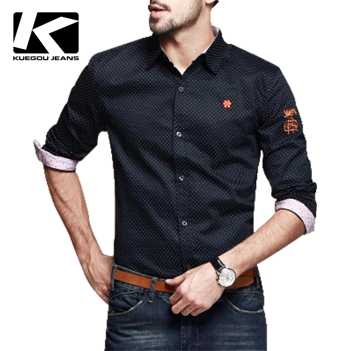 MEN'S CASUAL SHIRTS, NICE DESIAGNED PURE COTTN SLIM FIT LONG ...
