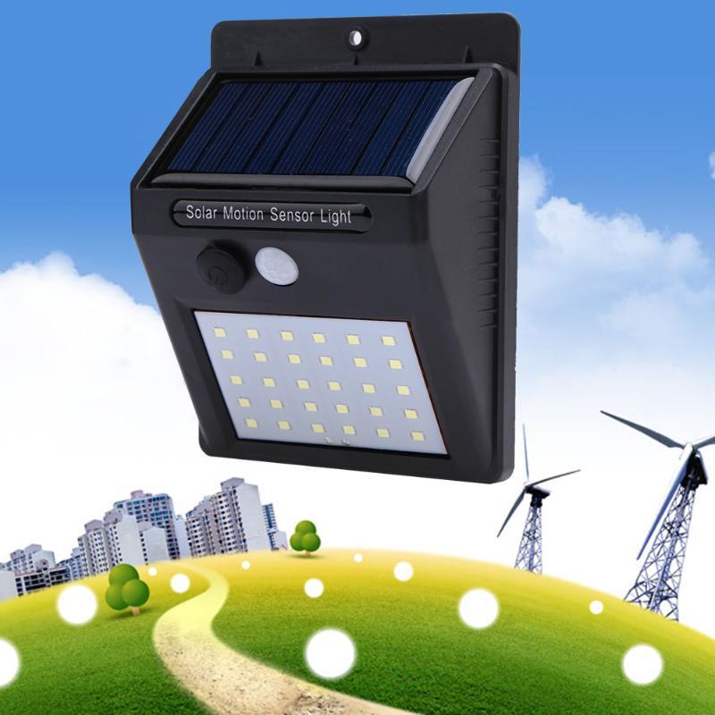 1-4Pcs 30 LEDs Solar Light PIR Motion Sensor Solar Garden Lamp Waterproof Outdoor Energy Saving Street Yard Path Light Dropship 2