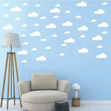 60pcs/set Clouds Wall Sticker DIY Removable Vinyl Decals Art for Nursery Girls Boys Bedroom Kids Room Home Decor Wall Stickers