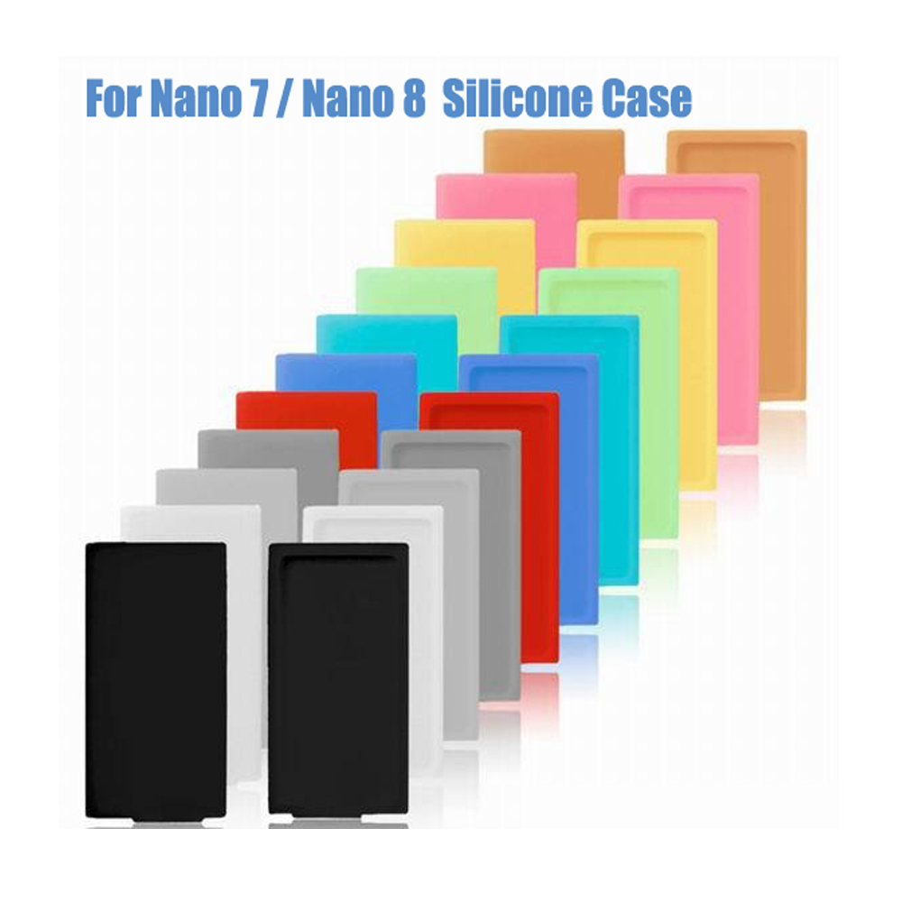 Silicone Soft Rubber Case for Apple iPod Nano 7 8 Cover 7th 8th Generation <font><b>16GB</b></font> 64GB Blue Pink image