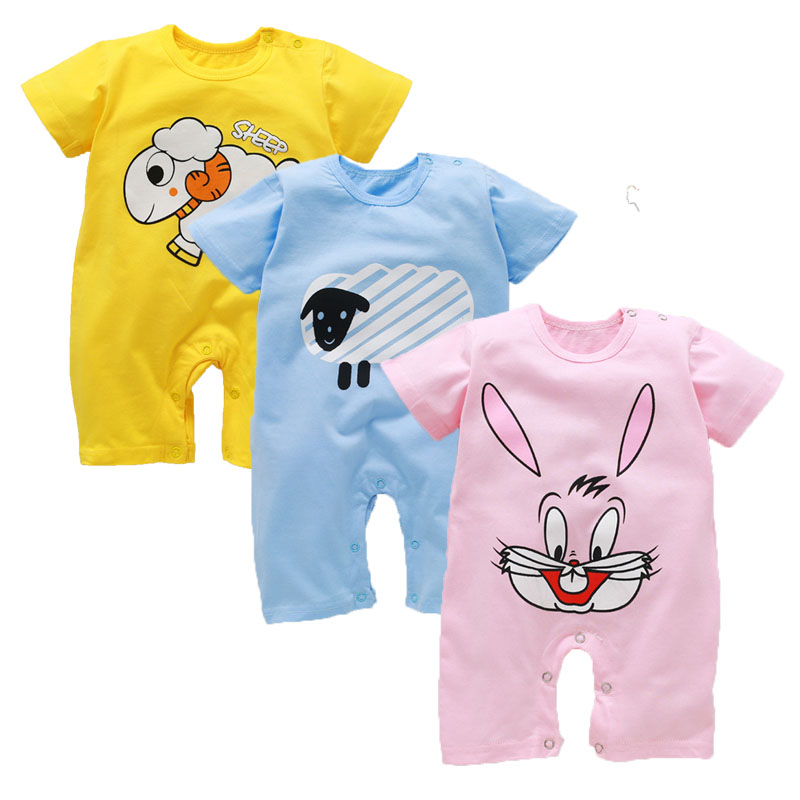 Baby Rompers Summer Baby Boy Clothes Cotton Baby Girl Clothing Newborn Clothes Roupas Bebe Infant Baby Jumpsuits Kids Costume baby boys rompers infant jumpsuits mickey baby clothes summer short sleeve cotton kids overalls newborn baby girls clothing