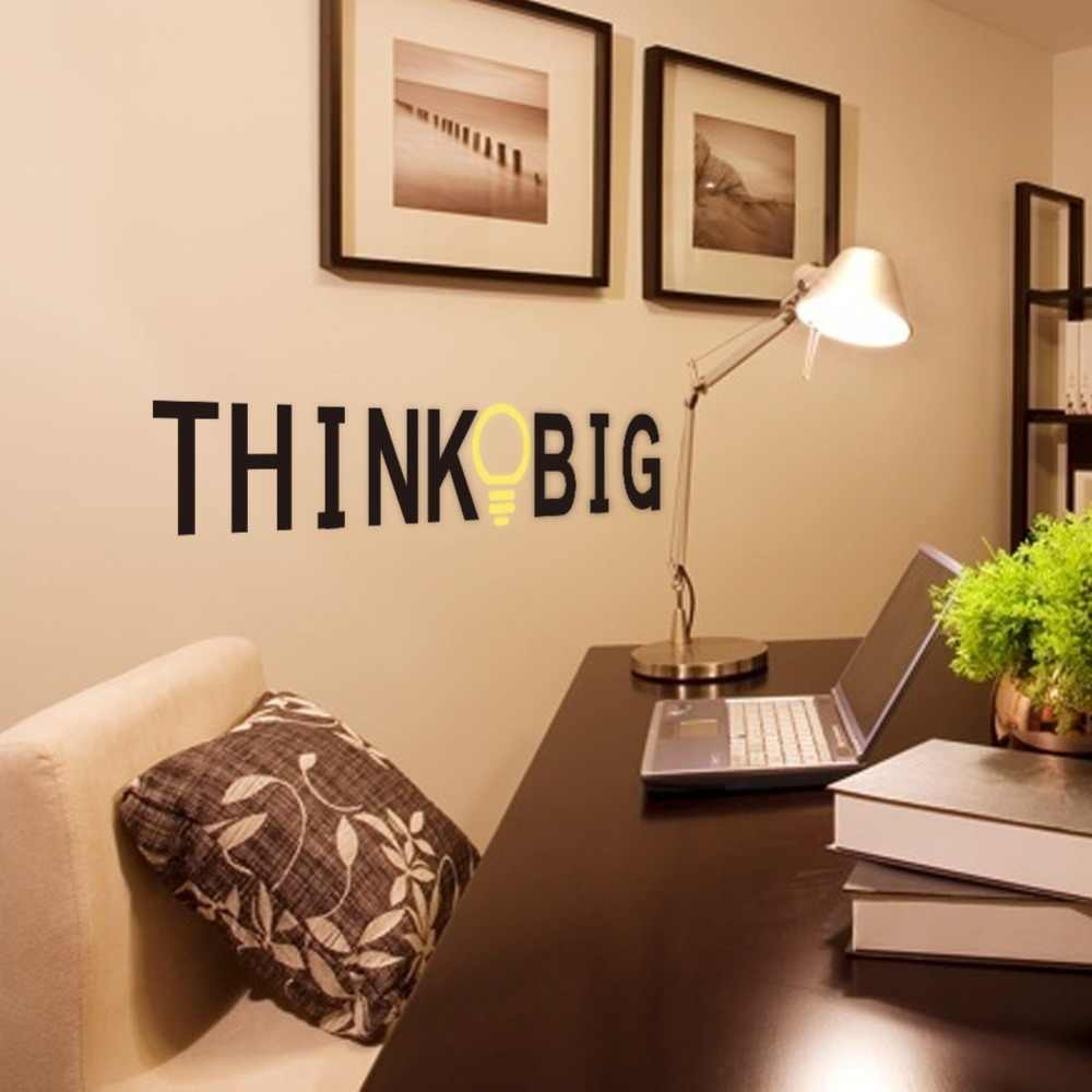 Creativo que letras grandes vinilos de pared para niños habitaciones sala de estudio hogar Oficina Decoración pegatinas de pared de vinilo arte mural DIY Decoración