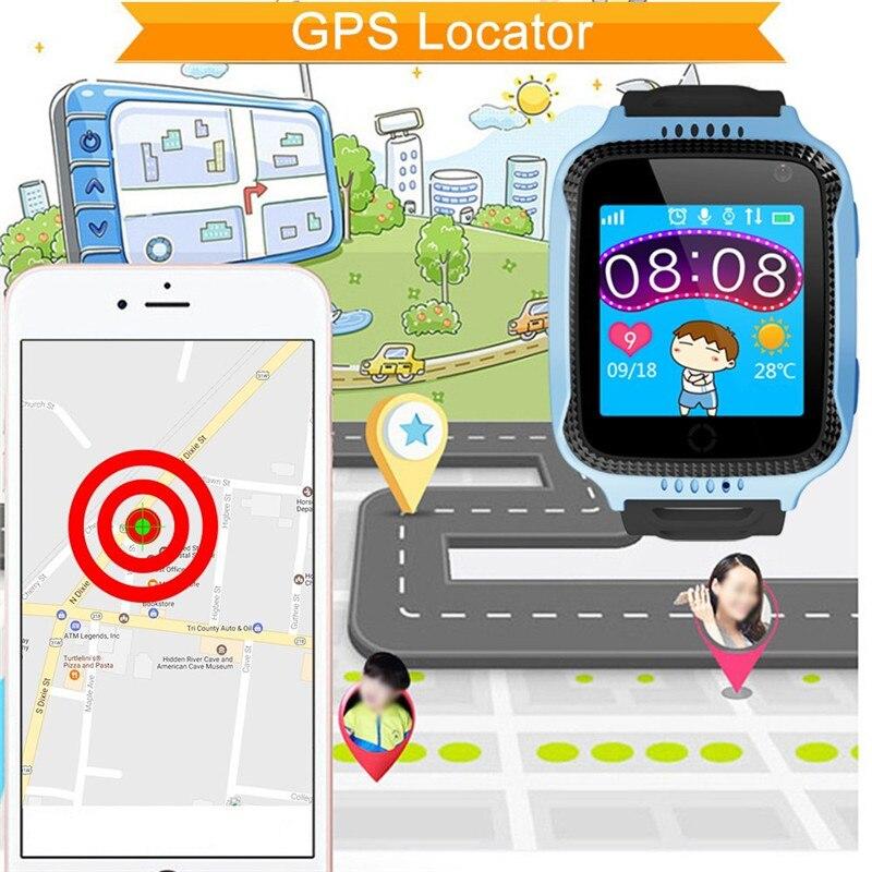 GIVENONE Q528 Enfants GPS Montre Intelligente Avec Lampe De Poche ET Appareil Photo Y21 Bébé Surveillance Appel SOS Localisation Appareil Traçage Enfants Montre Sure - 4