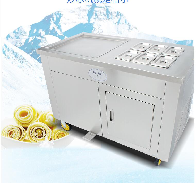 double cmpressor single square pan fried fry frying ice cream roll machine with a freezer intelligent square pan double compressor fry ice cream machine ice pan machine fried ice cream roll machine with freezer