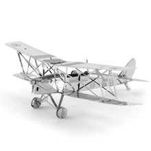 11 Styles Fighter Bomber Tiger Moth Aircraft F 22 DIY Model 3D Metal Puzzle Solid Assemble