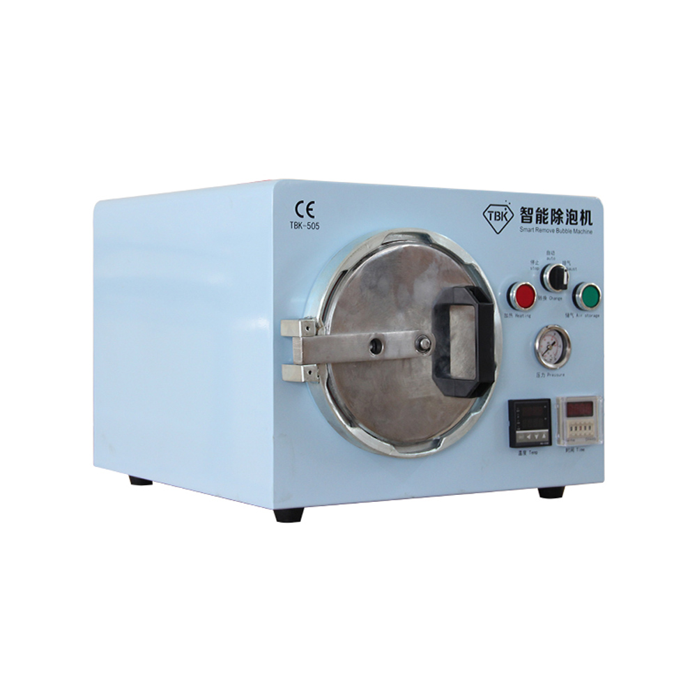 Multi-funciones Bubble Remove Machine Autoclave Smart Built-in Air Compressor Sin ruido eléctrico para la pantalla LCD Restaurar TBK-505