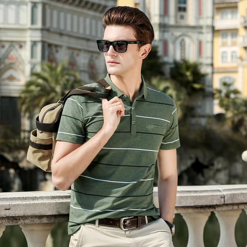 2019 New Fashions Brand Clothing Summer   Polo   Shirt Men's Top Grade Slim Fit Short Sleeve Striped Boys   Polos   Casual Mens Clothing