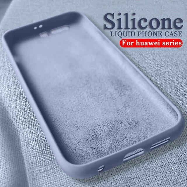 Funda de silicona líquida para huawei honor 8 s 8a 8x 10i funda de teléfono inteligente suave en honor 10 lite 9 light 8 x s casos, funda de casco