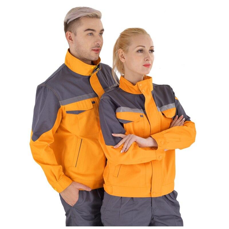 Güvenlik ve Koruma'ten Emniyet Giyim'de Iş elbiseleri erkekler kadın KAYNAK MAKINESİ tamir büyük boy Tulumlar dikiş koruyucu güvenlik iş elbisesi temizlik üniforma title=
