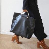 2018 حار بيع النساء السيدات حقائب جلدية حمل حقيبة كبيرة الفاخرة حقيبة مصمم المعادن حزام عارضة مخلب جيب مفتوحة للمتسوقين حقيبة