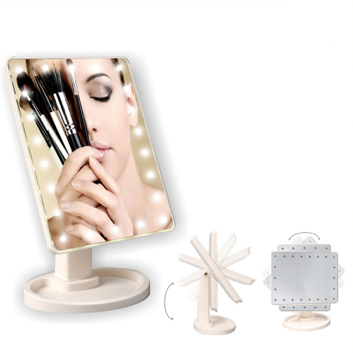 16 22 led touch screen makeup mirror professional vanity mirror lights health beauty adjustable. Black Bedroom Furniture Sets. Home Design Ideas