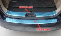 2Pcs High quality 304 stainless steel Inner+Outside Rear bumper Protector Sill Trim For 2013 2014 KIA Sorento