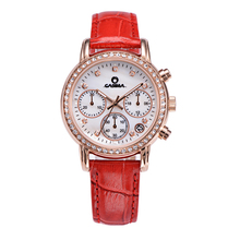 CASIMA Brand luxury watches women fashion casual bright watch men's quartz leather women waterproof wristwatch relogio feminino