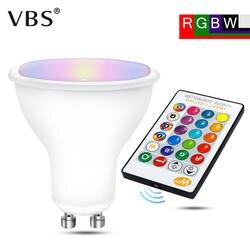 GU10 RGB светодиодный лампа 8 W ИК пульт дистанционного Управление AC 85-265 V атмосферное освещение 16 Цвет Сменные RGBW RGBWW Spotlight декоративные огни