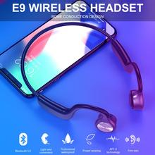 цена на E9 Newest Wireless Bone Conduction Headphones Bluetooth 5.0 Binaural Stereo Bone Headset Waterproof Sports Bluetooth Earphone