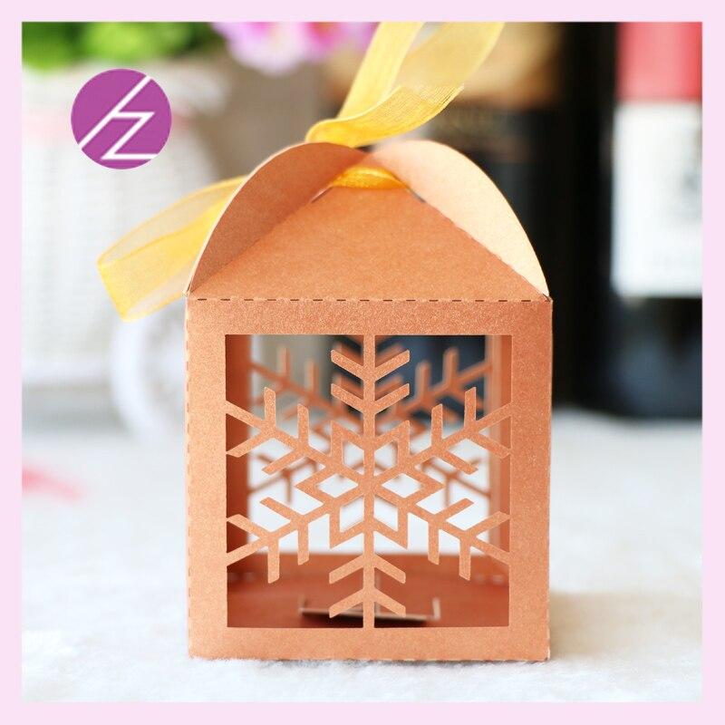 Лазерная резка красивые снежные ленты коробка для свадебных сувениров со свободными лентами печенья и sweetmeat bages для свадьбы приветствовать гостя подарочная коробка