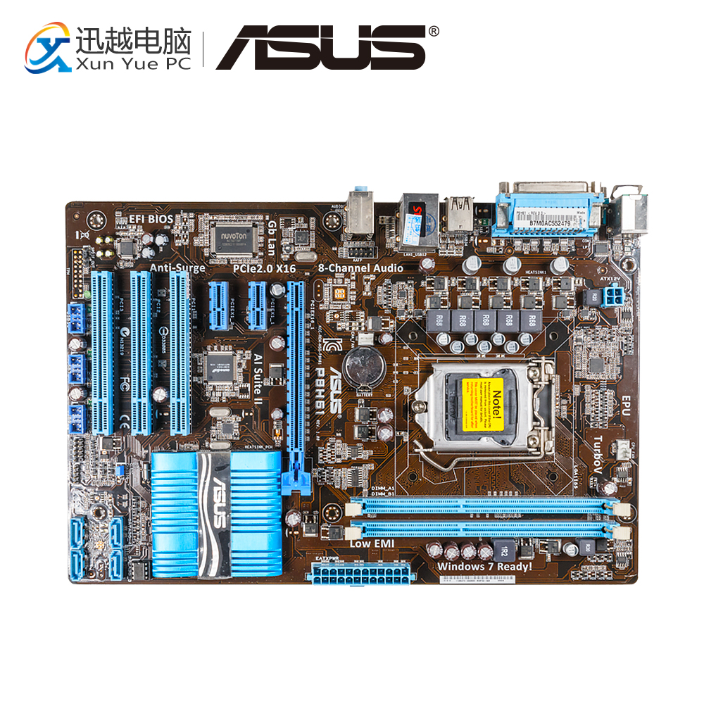 Asus P8H61 Desktop Motherboard H61 Socket LGA 1155 i3 i5 i7 DDR3 16G ATX On Sale asus p8h61 m lx plus desktop motherboard h61 socket lga 1155 i3 i5 i7 ddr3 16g sata2 usb2 0 vga com port