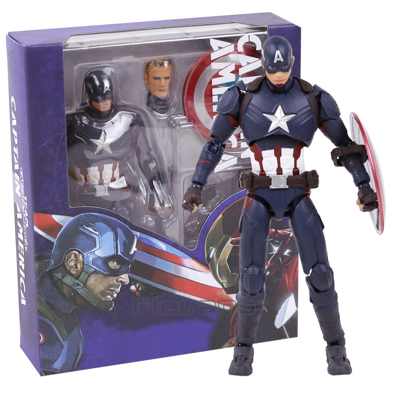 SHF Figuarts SHFiguarts Captain America PVC Action Figure Collectible Model Toy 16cm captain america civil war bobble head pvc action figure collectible model toy doll 10cm