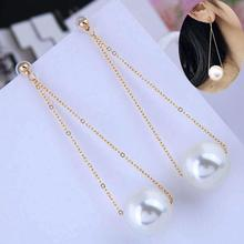 2019 Aretes Brincos Earings Korean The Same Paragraph Fashion Imitation Pearl Tassel Earrings Wholesale Jewelry Female Long