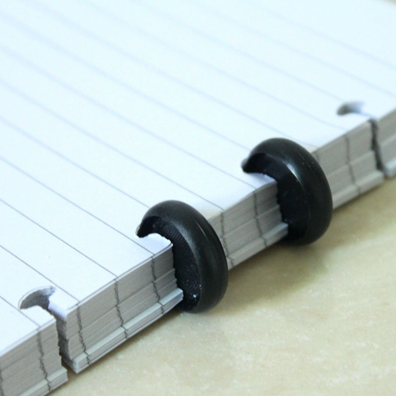 50Pcs Lot Loose Book Binding Disc Black Plastic Round Buckle Circa Roll Mushroom Hole Spira Inner Books Office Supplies in Clips from Office School Supplies