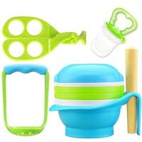 Baby Food Grinder Grinding Bowls Food Supplement Scissors Spoon Weaning Fruit Feeder Processor Juice Press Machine
