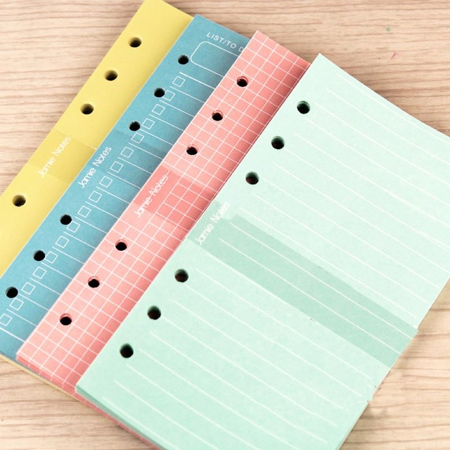 Jamie Notes Color Paper Diary refill A5A6 Planner Filler Papers for ...