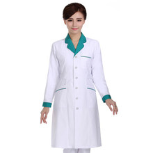 В соответствии с сеткой, одежда для медсестер белый лабораторный халат, талия, аптеку, красота, женщина, доктор, одежда с длинными рукавами, зимняя одежда d
