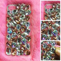 Mobile Phone Cas For Huawei P8 Lite Case Transparent Rhineston Cover For Huawei P9 Lite P9