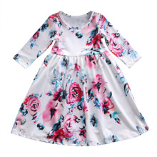 Girls Dresses 2019 Fashion Girl Dress Lace Floral Design Baby Girls Dress Kids Dresses For Girls Casual Wear Children Clothing цена в Москве и Питере