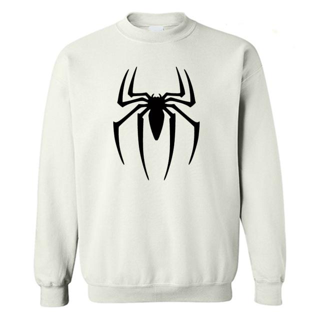 Cópia Do Logotipo do homem-aranha Homens moletom Preto Superherofleece hoodies moletons Adolescente Os Vingadores Do Homem Aranha Roupas