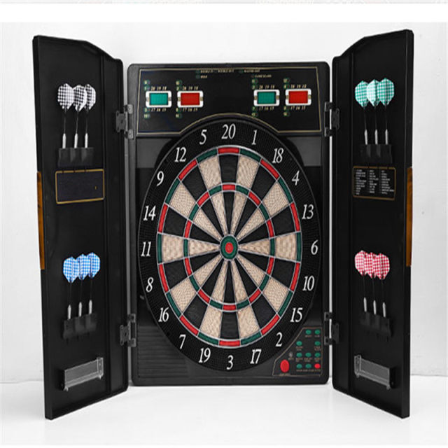 Een Set Dartbord Bullshooter Game Play Elektronische Kast Led Display Spinachtige Indoor 12 Darts 27 Games Met Variaties In Een Set Dartbord