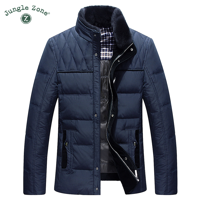 JUNGLE ZONE 2017 Winter new casual down jacket thicker middle-aged down jackets men