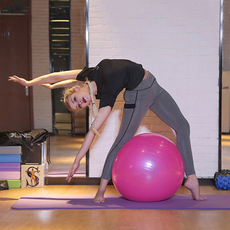 55/65/75cm Sports Yoga Balls Bola Pilates Fitness Ball Gym Balance Fitball Exercise Pilates Workout Massage Ball
