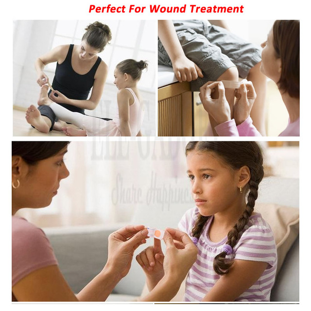 100Pcs/Pack Non-woven Wound Adhesive Plaster Medical Anti-Bacteria Band Aid Bandages Sticker Home Travel First Aid Kit Supplies 6