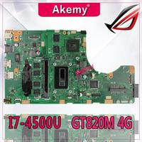 Akemy TP550LD Laptop motherboard for ASUS TP550LD TP550LA TP550L TP550 Test original mainboard DDR3L 4G RAM I7 4500U GT820M