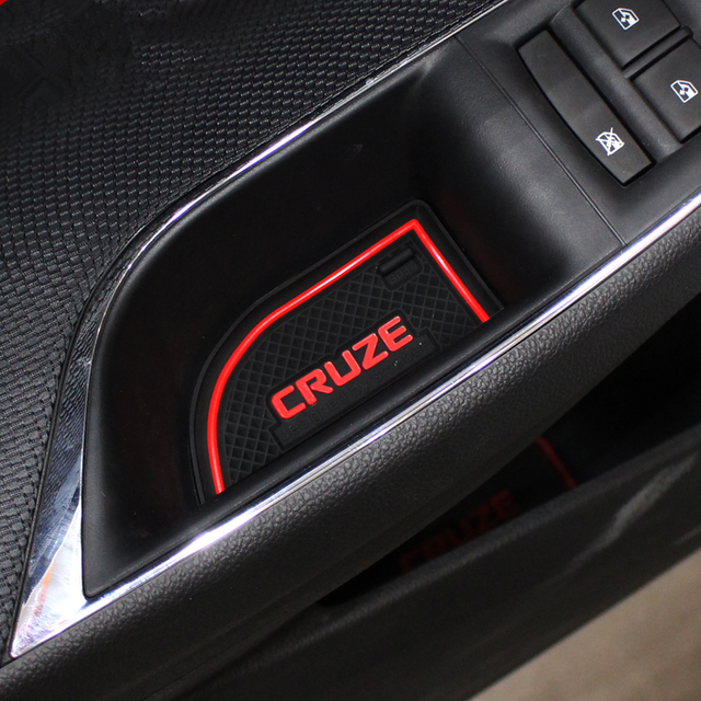 9pcs Car Styling Interior Non-Slip Mat Door Groove Pad Cushion Rubber Mat Fit For Chevrolet Cruze Sedan Hatchback 2009-2014 1