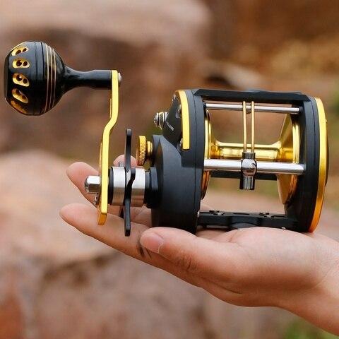 carretel tambor tipo linha pesca carreteis alta qualidade rolamentos