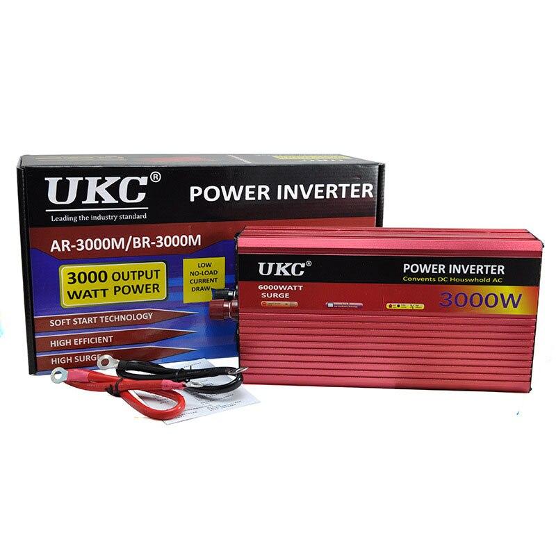 3000W Power Inverter DC 24V To AC 220V 50HZ full protection AC Power Inverter accept Car Inverter 3000W CY554-CN удлинитель universal у10 554 5m 554 05