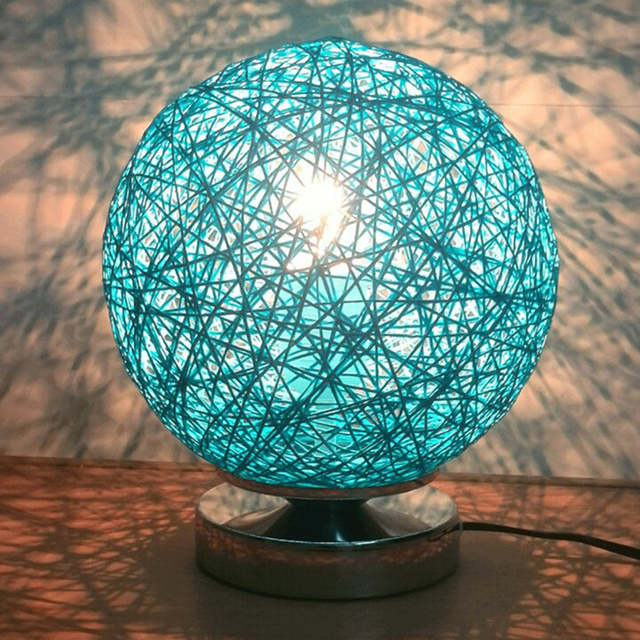 New 220v Rattan Ball Shape Lamp Shades For Table Lamp Night Light