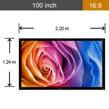 CAIWEI Portable 16 9 Movie Screen Projector Screen 100 inch fabric for Projection Screen film