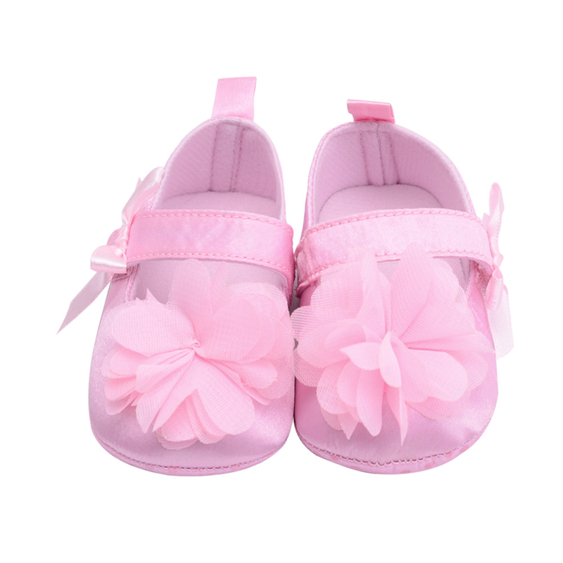 Newest Cute Toddler big Flower Crib Shoes Soft Sole Kid Girls Baby Shoes Prewalker Newborn Baby Moccasin Babies Shoes