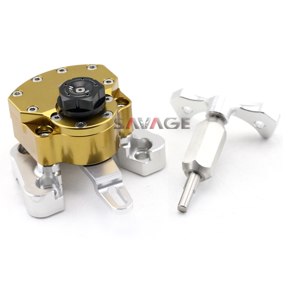 For DUCATI MONSTER 1100 EVO 2011 2012 2013 Gold Motorcycle Adjustable Steering Damper Stabilizer with Mount Bracket for ducati monster 1100 evo 2011 2012 2013 red motorcycle adjustable steering damper stabilizer with mount bracket
