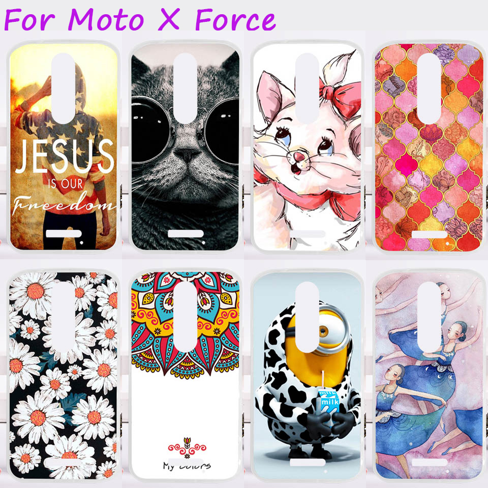 TAOYUNXI <font><b>Cases</b></font> For Motorola Moto X Force Cover XT1585 XT1581 <font><b>Droid</b></font> <font><b>Turbo</b></font> <font><b>2</b></font> XT1580 Mobile <font><b>Phone</b></font> Skin Silicon Soft TPU Bags Skin